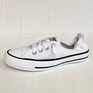 Converse Shoreline All White Slip on Sneakers